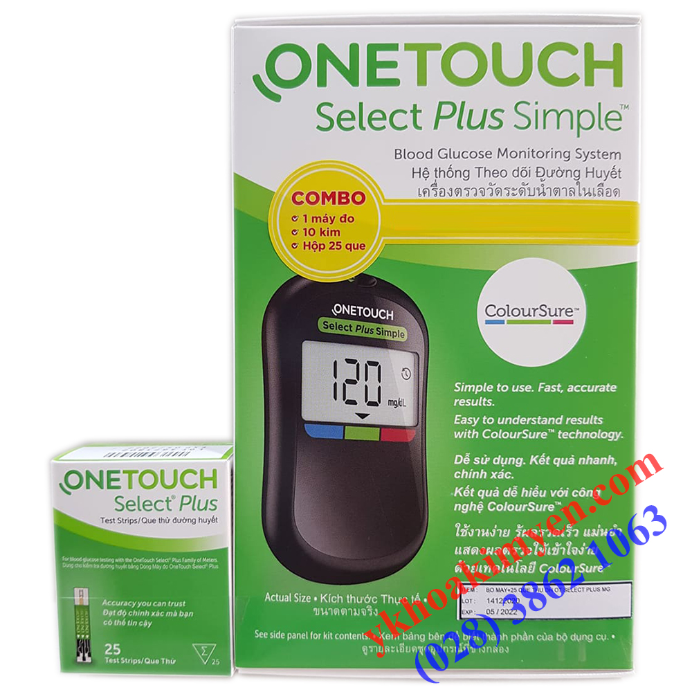 Que thử đường huyết One Touch Select Plus Simple